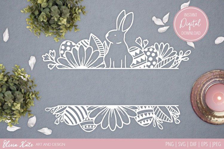 SVG / PNG / DXF/ EPS / JPEG Easter Bunny Divider Design