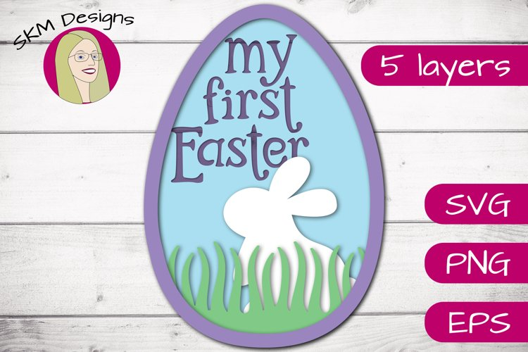 My 1st Easter Bunny Egg   SVG Cut File