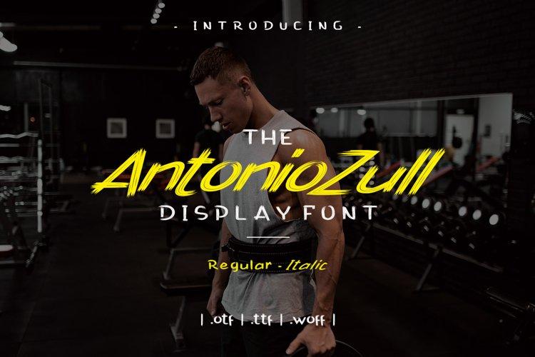 Antonio Zull Brush Font example image 1