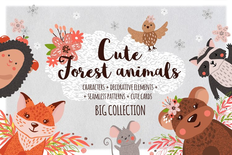 Cute Forest Animals Collection example image 1