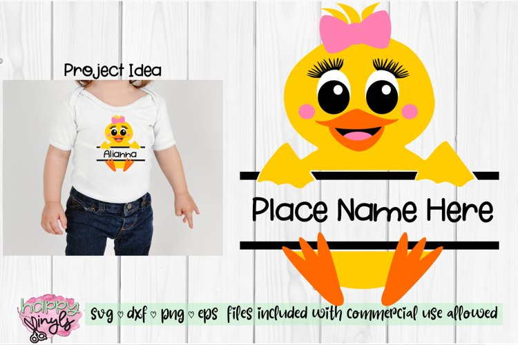 Baby Duck Personalize Design GIRL - An Easter SVG
