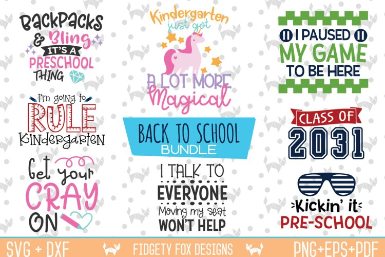 Back To School Svg Bundle - 1st day Svg-Dxf-Eps-Pdf-Png File