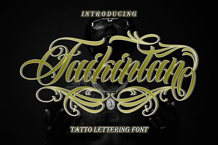 Faikinlan - Tattoo Lettering Font example image 1