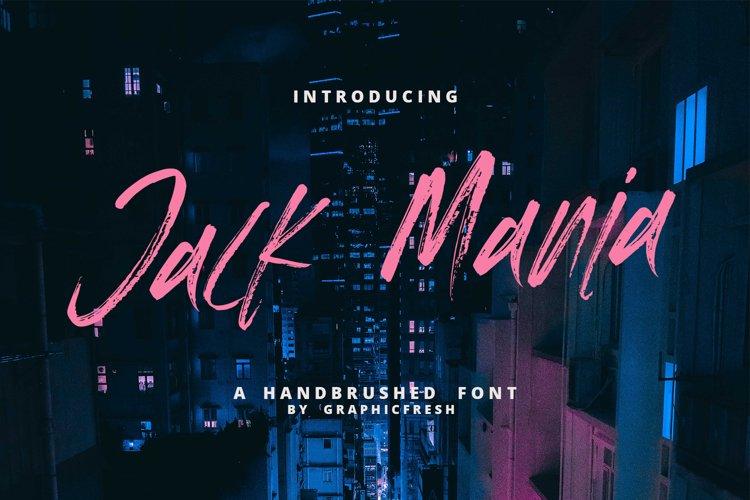 The JACK MANIA Brush Font example image 1