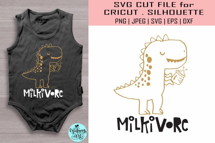 Milkivore svg, funny baby svg example image 1