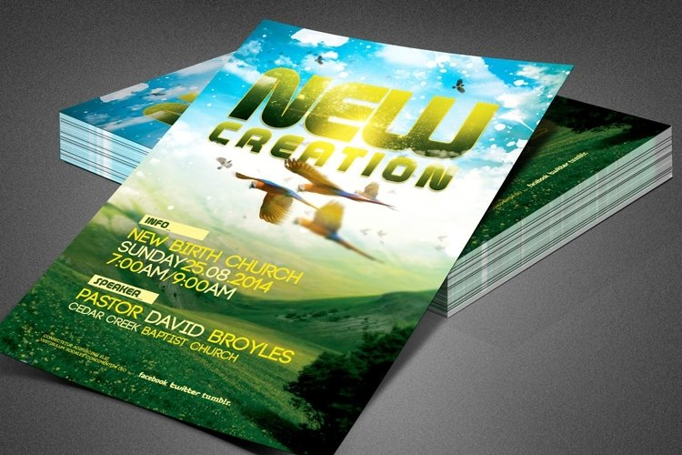 New Creation Church Flyer Template example image 1