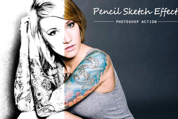 Pencil Sketch Photoshop Action example image 1