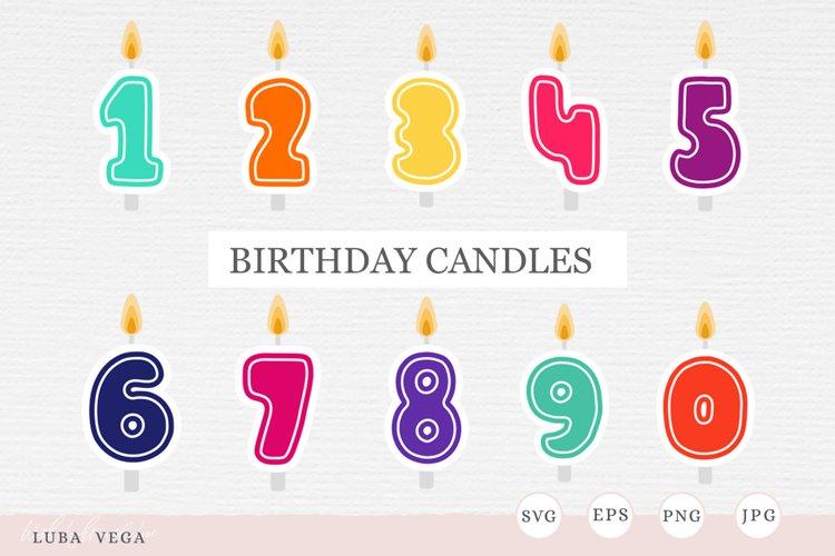 Birthday candles SVG | birthday decorations example image 1