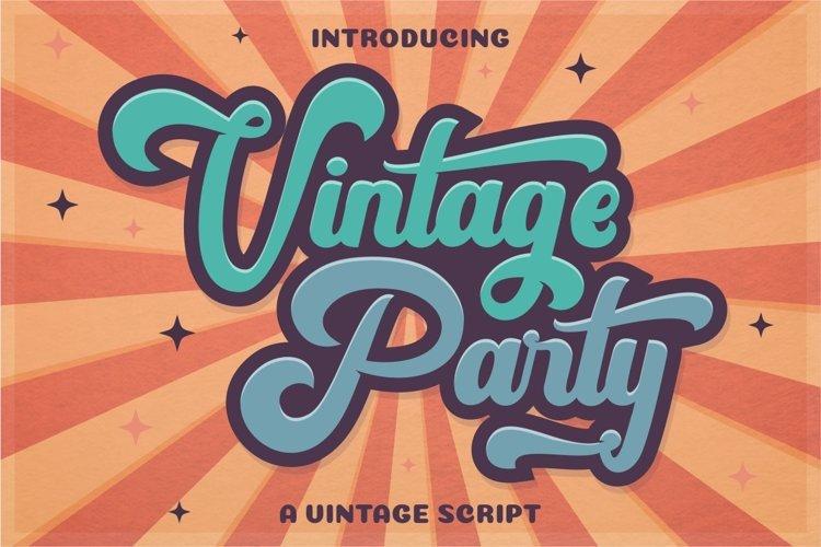 Best Seller Vintage Font - Vintage Party - Bold Retro Script