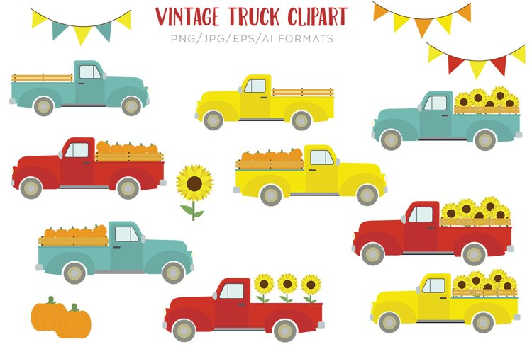Vintage Truck Vector Clipart