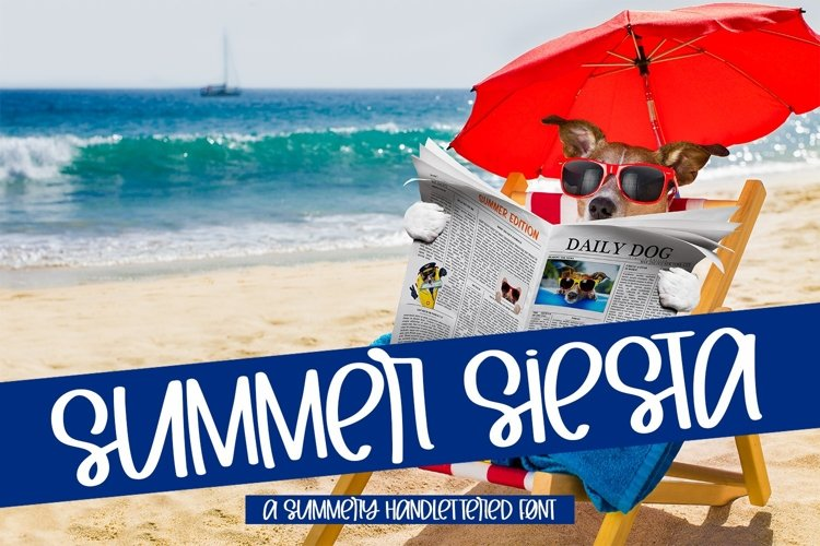 Web Font Summer Siesta - A Summery Hand-Lettered Font example image 1