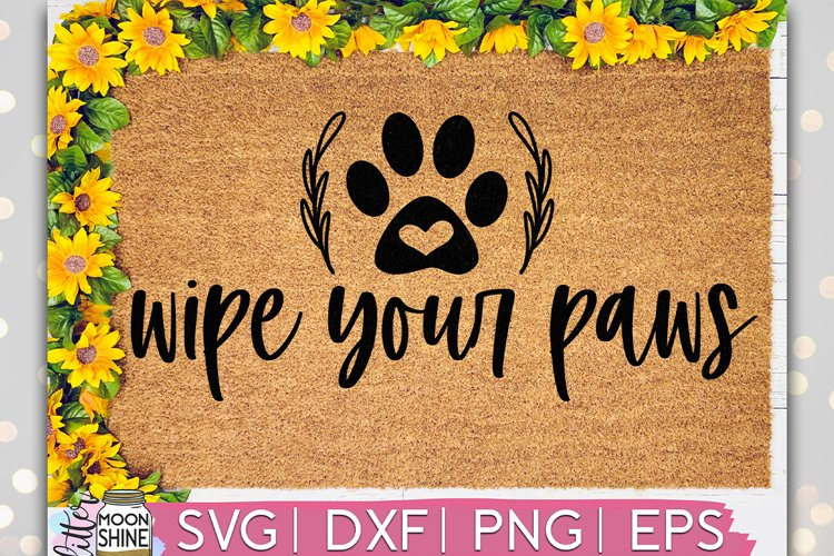 Wipe Your Paws Door Mat SVG DXF PNG EPS