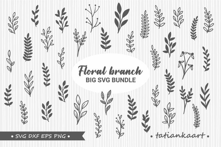 Floral branch svg bundle