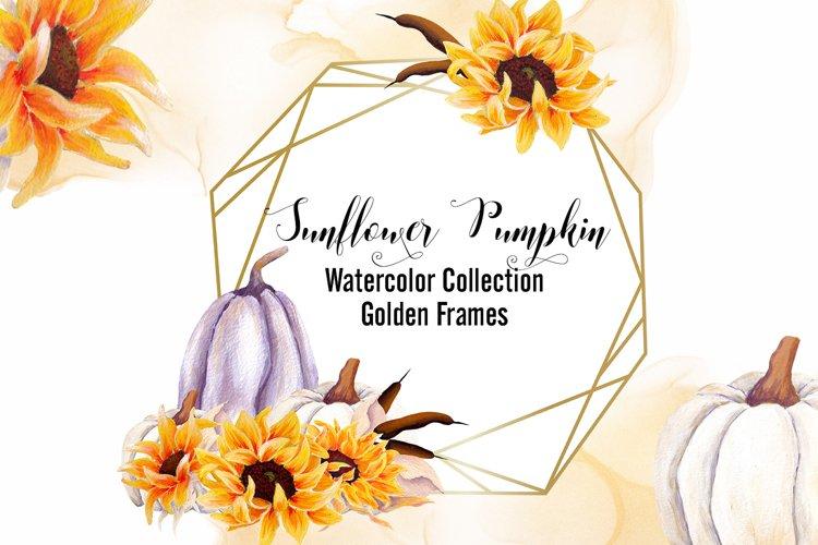 Sunflower Pumpkin- Golden Frames