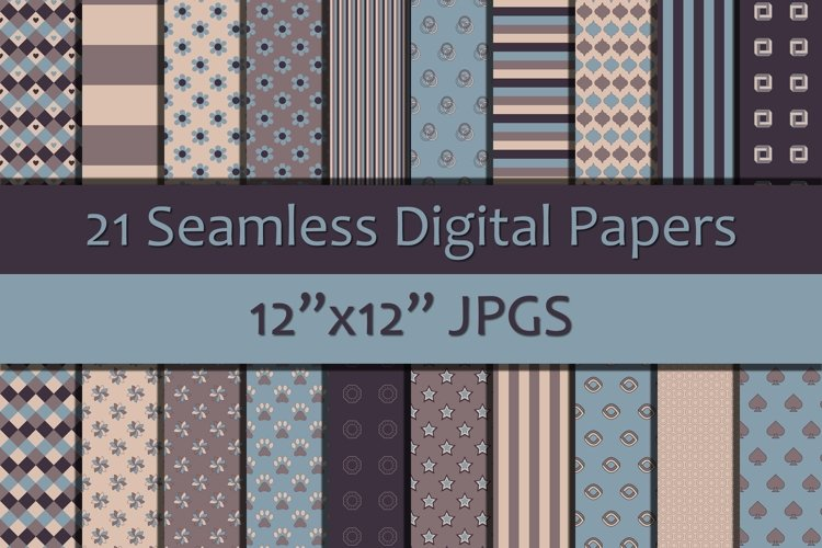 Shades of Pink/Blue 2 Digital Papers, Seamless Backgrounds example image 1