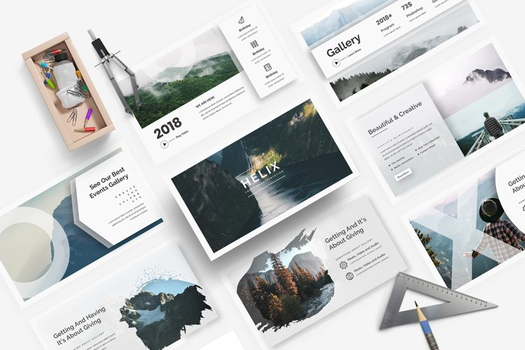 Helix Creative Powerpoint Template