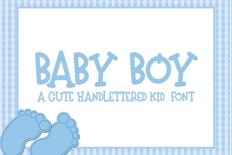 Baby Boy - A Hand-Lettered Kid Font example image 1