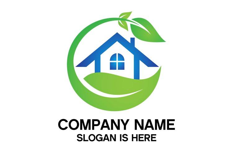 Eco House Logo Design Vector