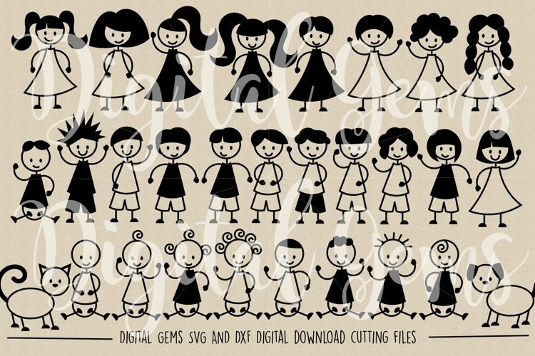 Stick People SVG / DXF / EPS / PNG Files - Free Design of The Week Design0