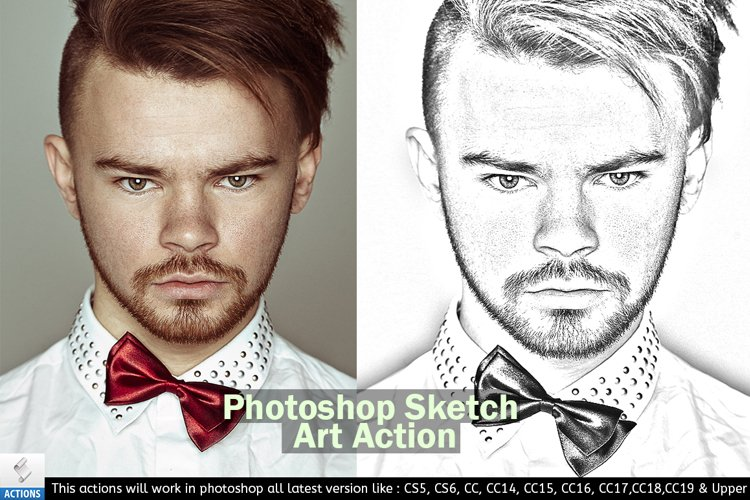 Photoshop Sketch Art Action