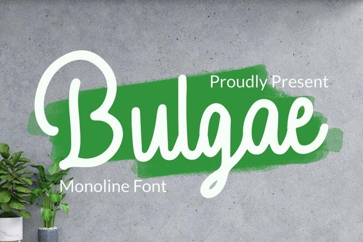 Web Font Bulgae Font example image 1