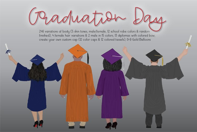 Graduation Day Clipart Set example image 1
