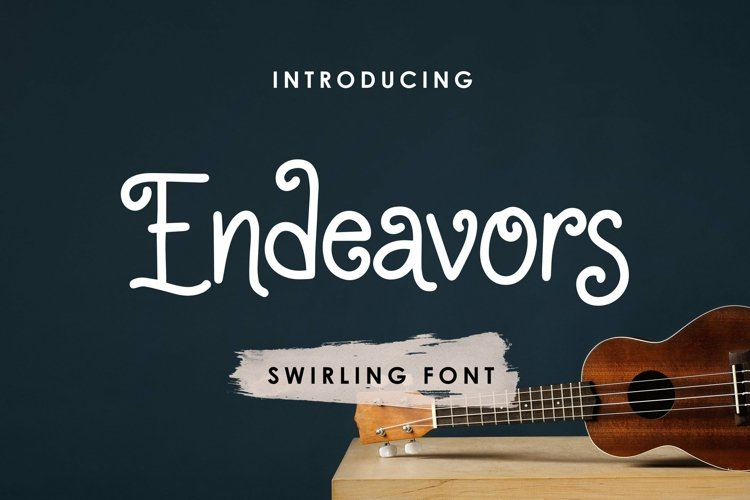 Web Font Endeavors - Swirling Font example image 1