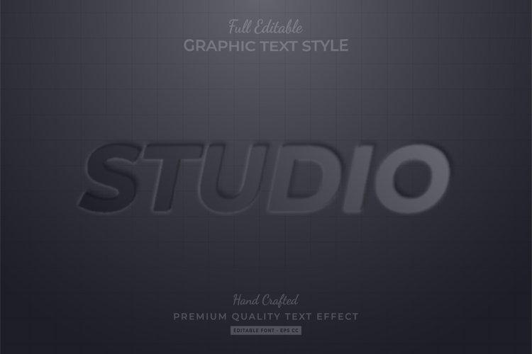 Studio Emboss Editable Eps Text Style Effect Premium example image 1