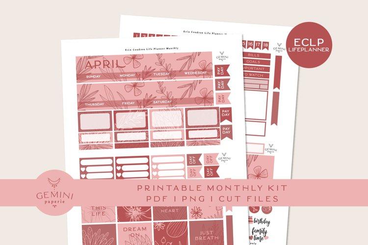 April Monthly Planner Sticker Kit Erin Condren or Classic Happy Planner