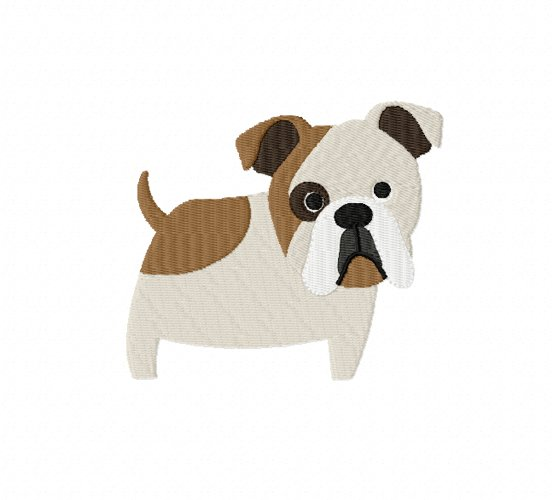 BULLDOG Embroidery Design in 2 sizes example image 1