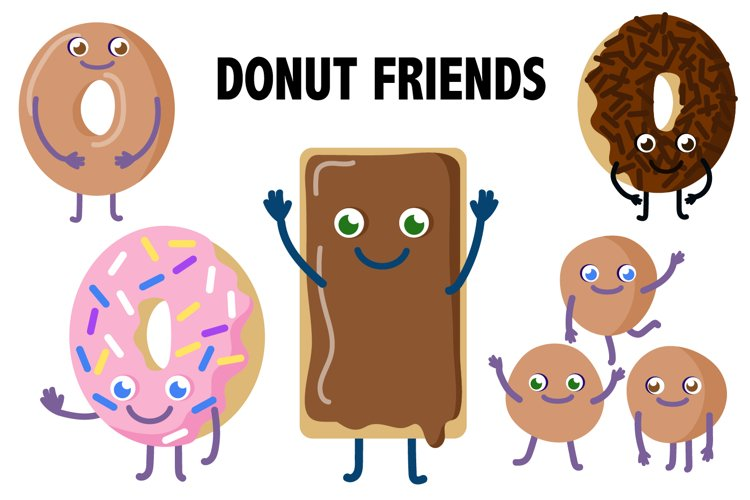 Donut Friends Clipart example image 1