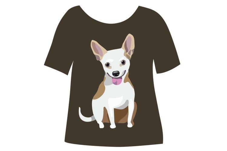 Dog print for tshirt. example image 1