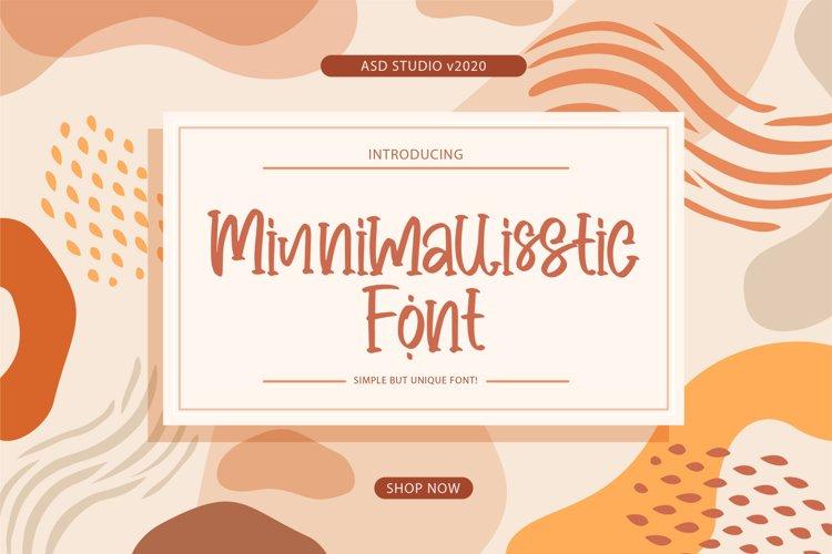 Minnimallisstic Font example image 1