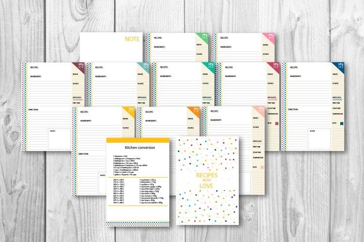 Cookbook, Recipe book A4, A5