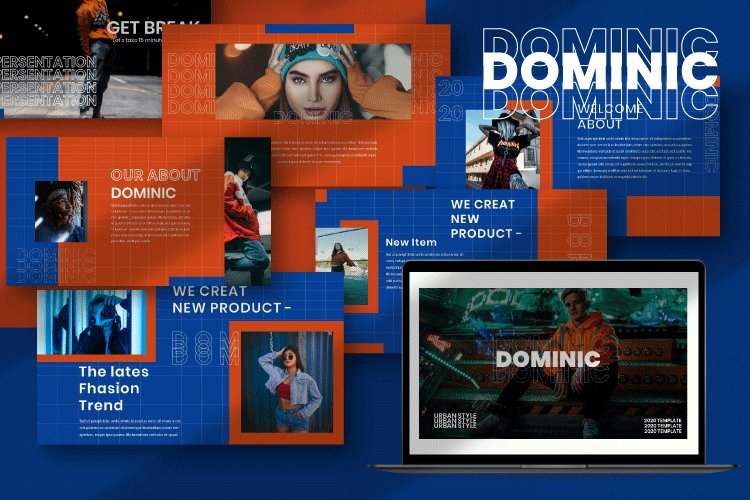 Dominic - Creative Powerpoint Template example image 1