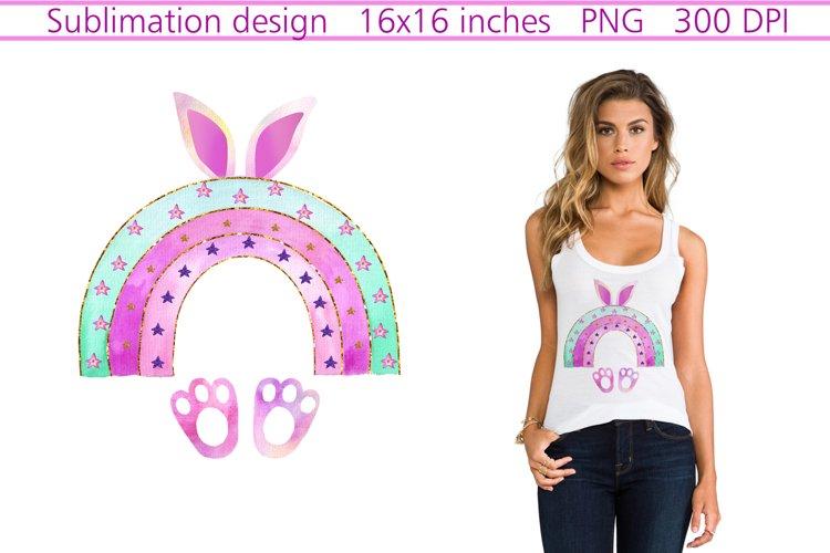 Easter Bunny sublimation,Rainbow Easter Sublimation,Rainbow