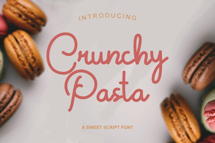 Crunchy Pasta   Sweet Monoline Font example image 1