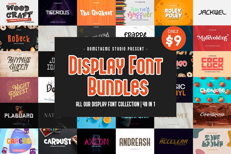 Display Font Bundles Collection example image 1