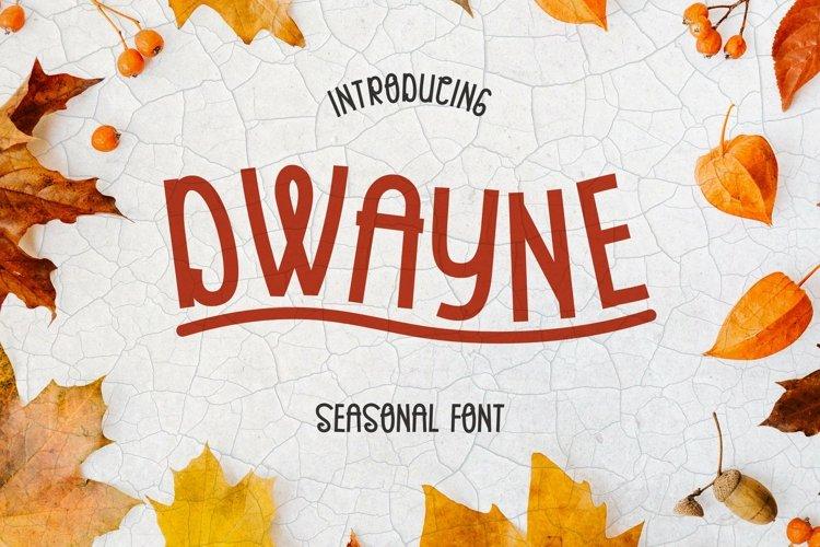 Web Font Dwayne Font example image 1