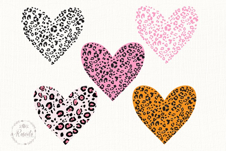 Heart With Leopard Texture example image 1