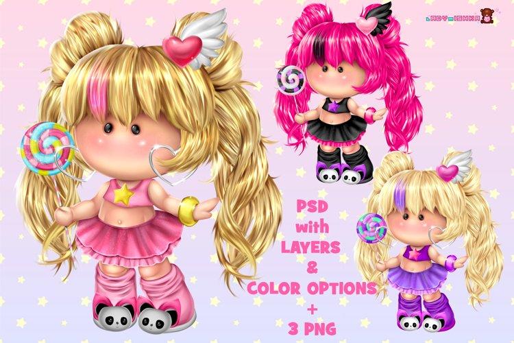 Cute Pummy Doll with Lollipop