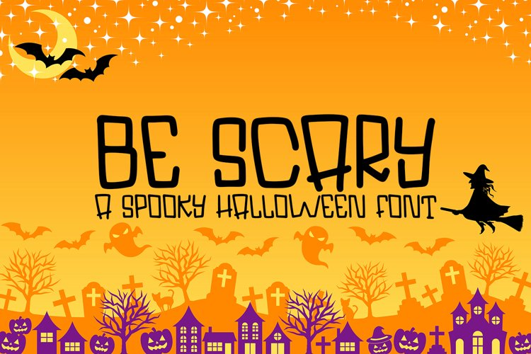 Be Scary - A Hand-Lettered Halloween Font example image 1