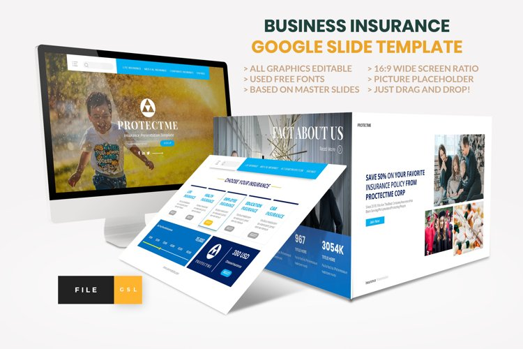 Insurance - Business Consultant Google Slide Template example image 1