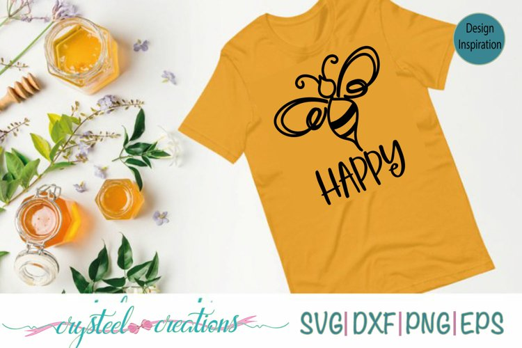 BEE Happy SVG, DXF, PNG