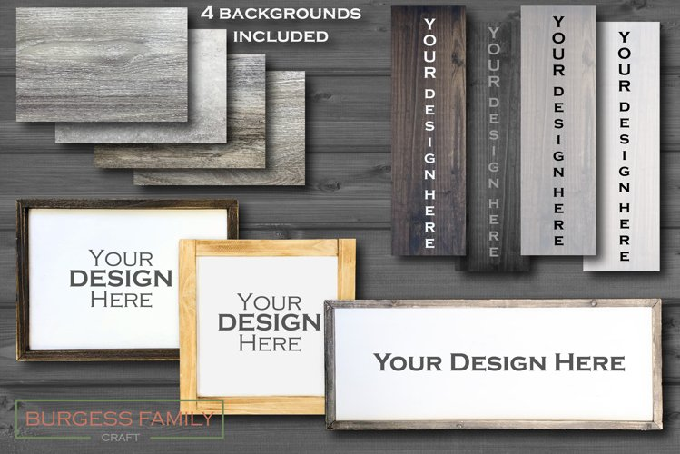 Wooden sign custom craft mock up Bundle | Vol II
