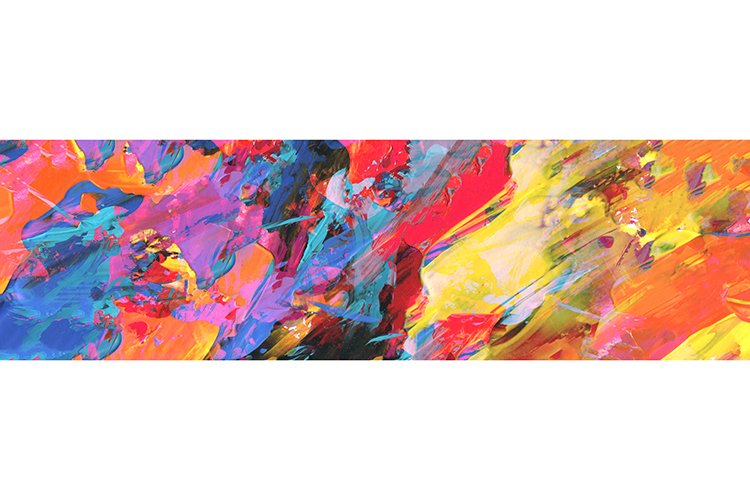 Abstract acrylic and watercolor smear blot painting.