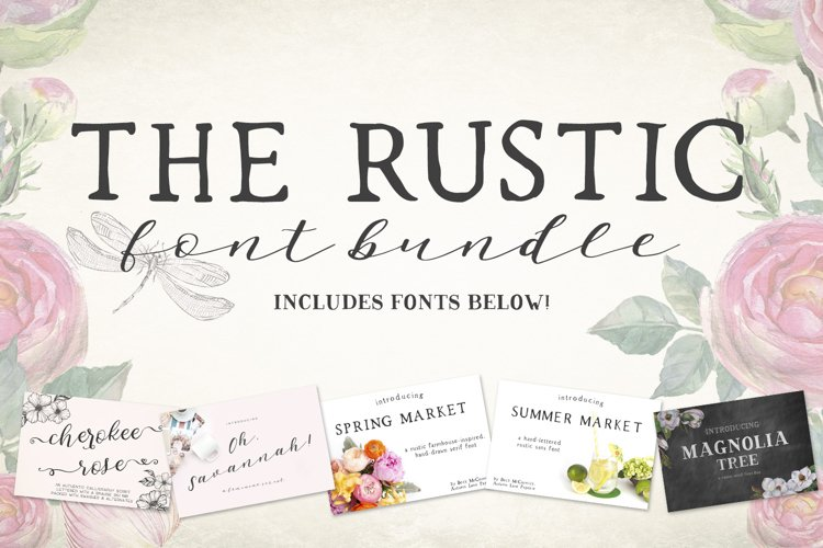The Rustic Font Bundle by Beck McCormick