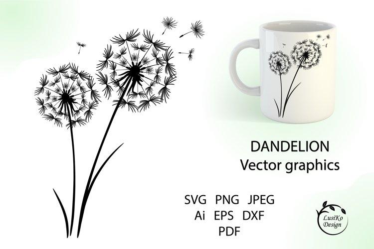 Dandelion. Spring flowers sublimation design SVG, PNG, JPG
