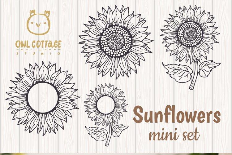 Sunflower Monograms svg, Sunflower mini bundle, Sunflower cl - Free Design of The Week Design7