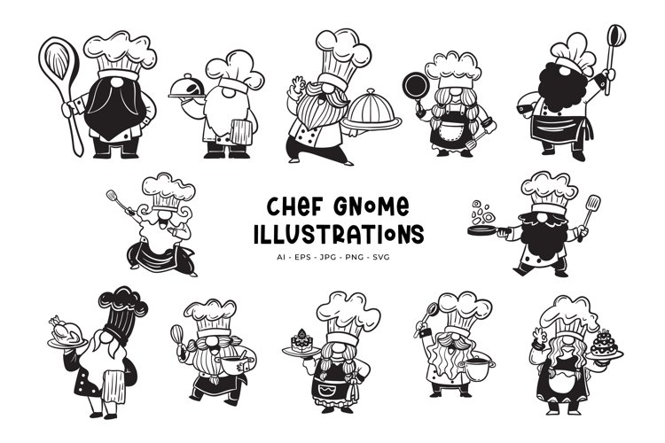 Chef Gnome Illustrations example image 1